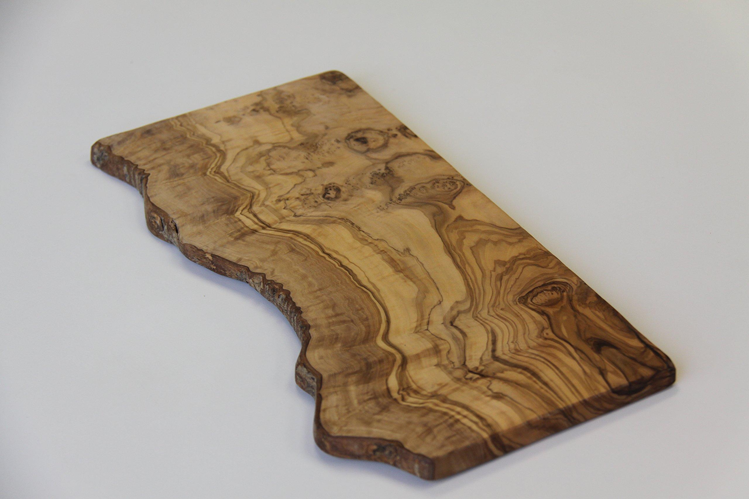 Artaste 28904 Olive Wood Rustic Cutting Board, Around 15.7-Inch Length