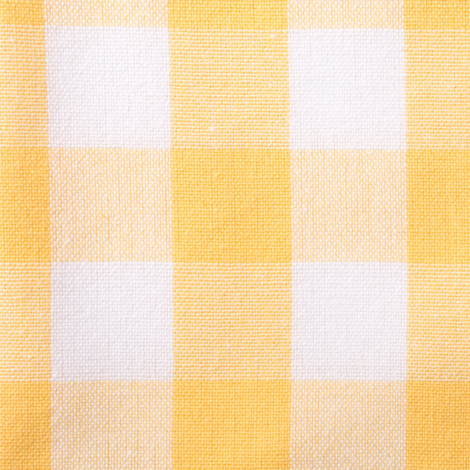 Yellow & White Check Table Runner
