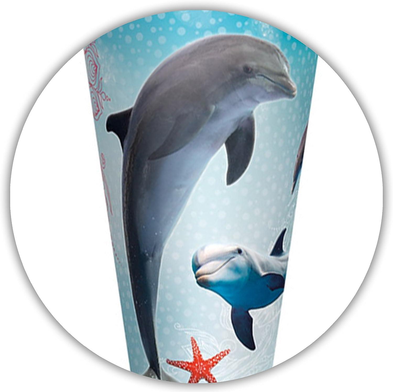 Borte Fische /& Seestern passend f/ür mit /_ 3-D Effekt rund // eckig Zuckert/ü.. Delfin 70 // 85 cm Glitzer alles-meine.de GmbH personalisierte 3D B/änder /_ Schult/üte Schleife