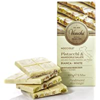 Venchi White Chocolate Bar with Salted Nuts, 100g
