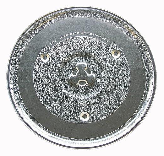 Chefmate apta para microondas de cristal Tocadiscos placa/bandeja ...