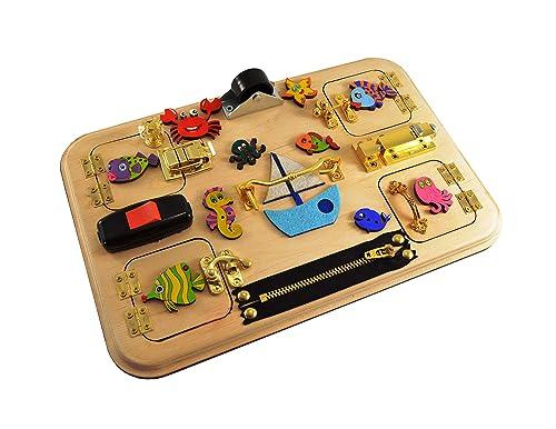 Busy Board Montessori Board Sensory Child Game Activity Board Development toy Toddler busy board Montessori Toys Toddler Sensory Board gift