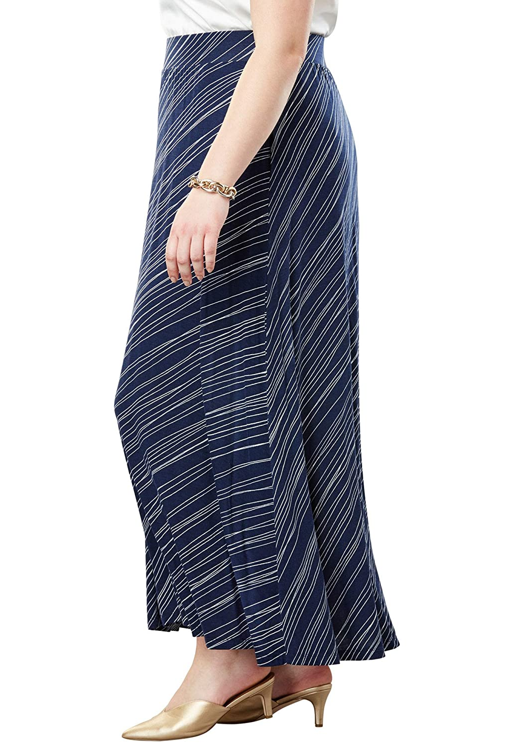 Jessica London SKIRT レディース B07D2MLG8X 22/24 Plus|Navy Bias Stripe Navy Bias Stripe 22/24 Plus