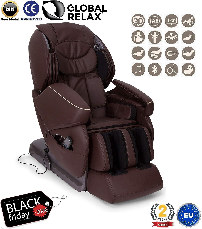 BLACKFRIDAY -300€ l NIRVANA® Sillón de masaje 3D - Marrón ...