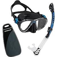 Cressi Big Eyes Evolution & Alpha Ultra Dry-Snorkelset met snorkel en duikbril, waterdicht duikmasker, anti-condens…