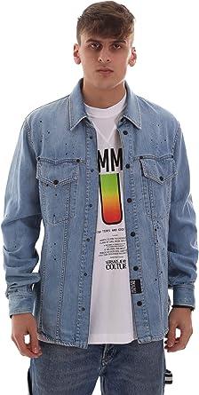 Versace Jeans B1GVB61UAPU5V904 Camisa Hombre Azul M: Amazon.es: Ropa y accesorios