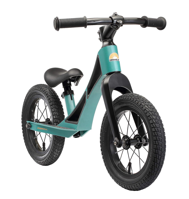 BIKESTAR Magnesium lightweight Kids First Running Balance Bike with air tires for Kids age 3 year old boys girls 12 Inch BMX Edition |