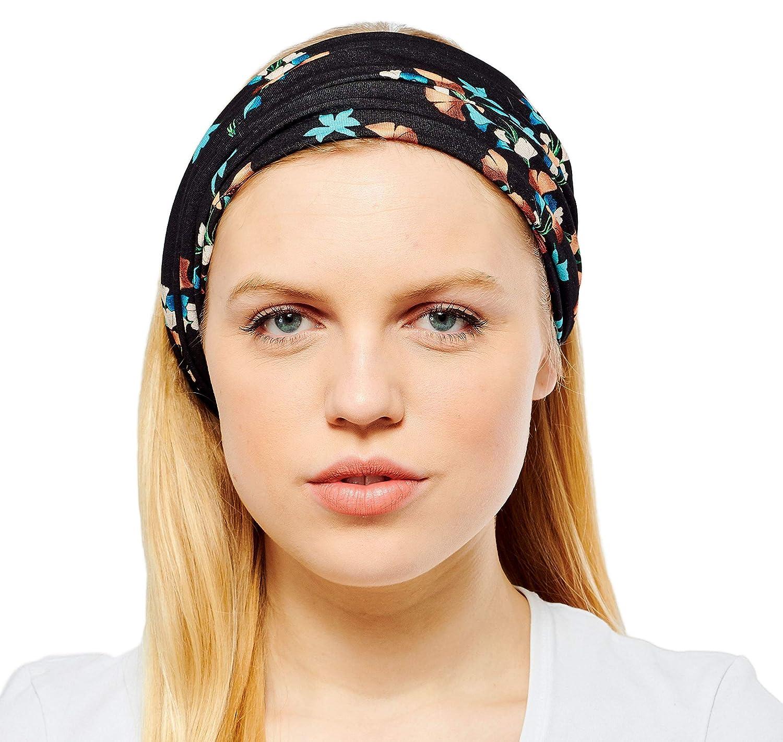 Antonia York Stirnband f/ür Damen Haarband Kopfband Bandana Headwrap