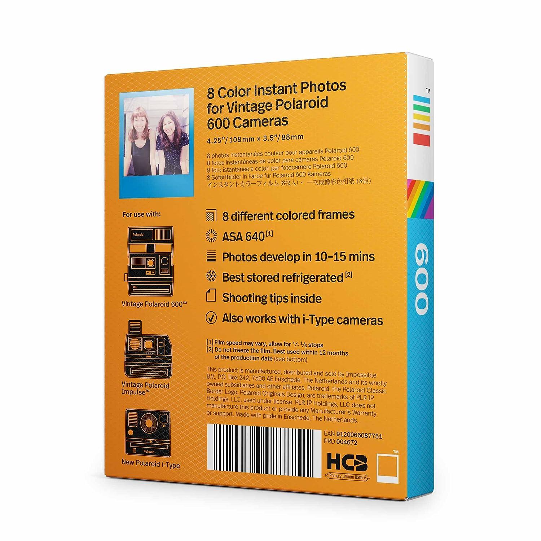 Amazon.com : Polaroid Originals 4672 Color Film for 600 Frames ...
