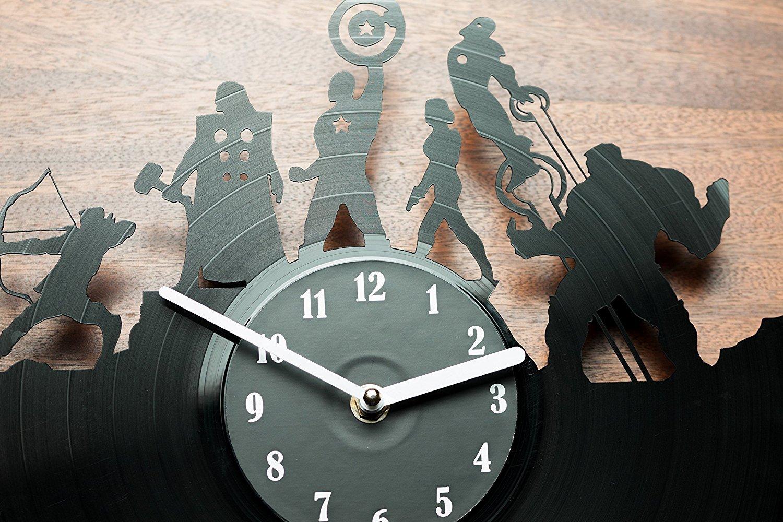 Amazon secondlifeforvinyl avengers vinyl record clock home amazon secondlifeforvinyl avengers vinyl record clock home kitchen amipublicfo Images