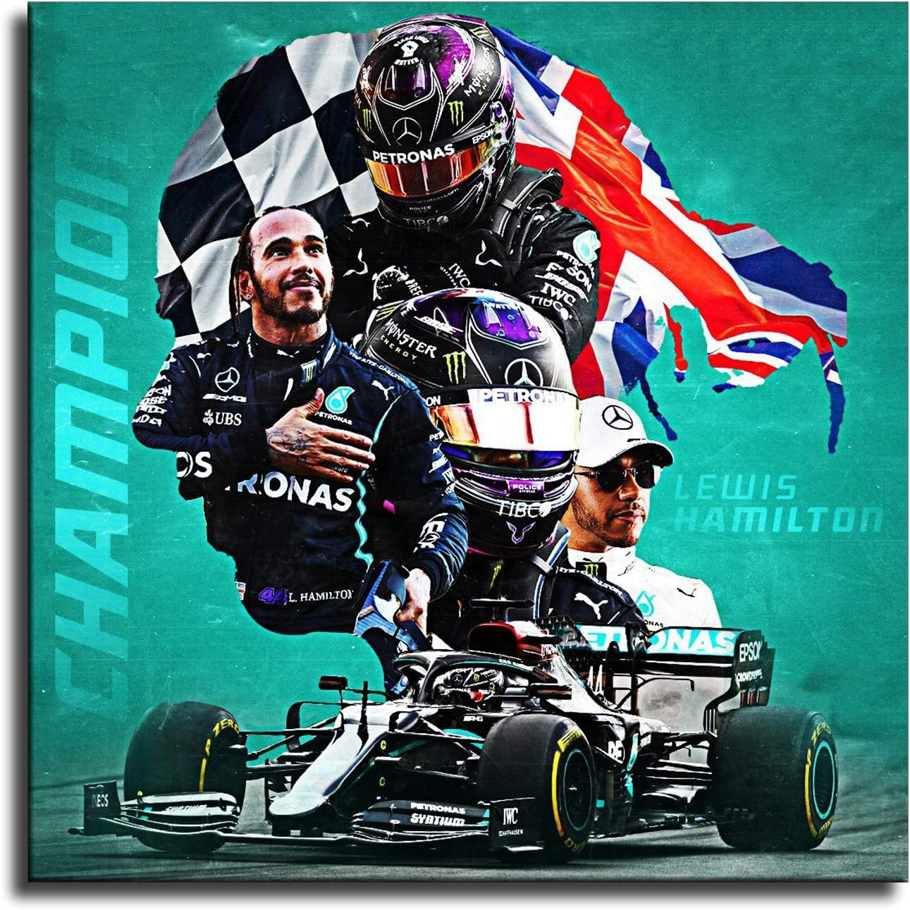 Details about  /Formula 1 Lewis Hamilton 7x World Champion Racing Poster for 2020 Art Print