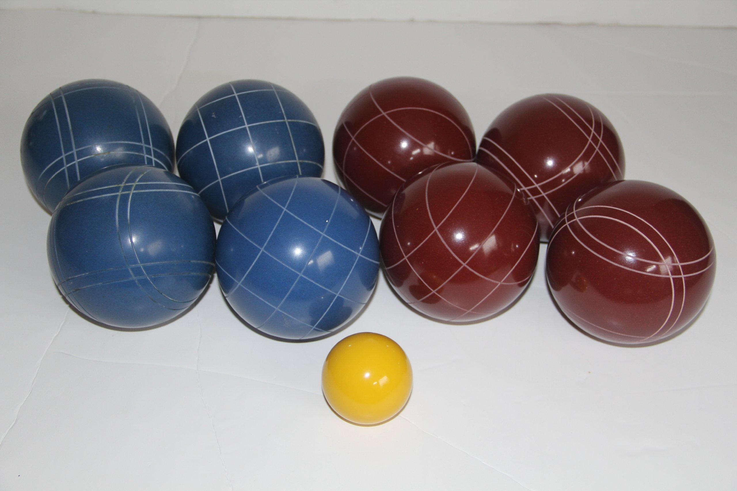 Premium Quality Epco Tournament Set - 110mm Red and Blue Bocce Balls - No BAG Option [Toy]