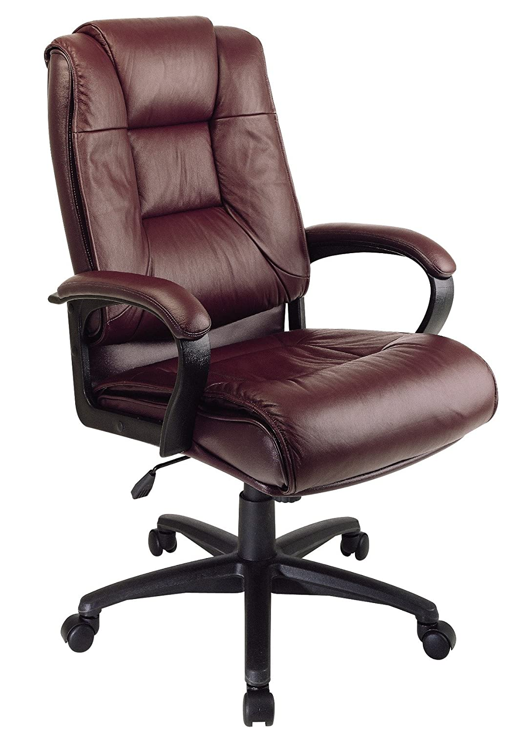 Amazon.com: Office Star EX5162-4 Leather High-Back Office Chair ...