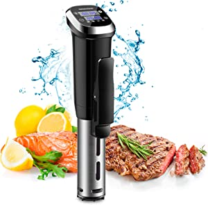REDMOND Sous Vide Machine, Accurate Immersion Circulator Cooker 1000W, Ultra Quiet, Stainless Steel Precise cooker, IPX7 Waterproof