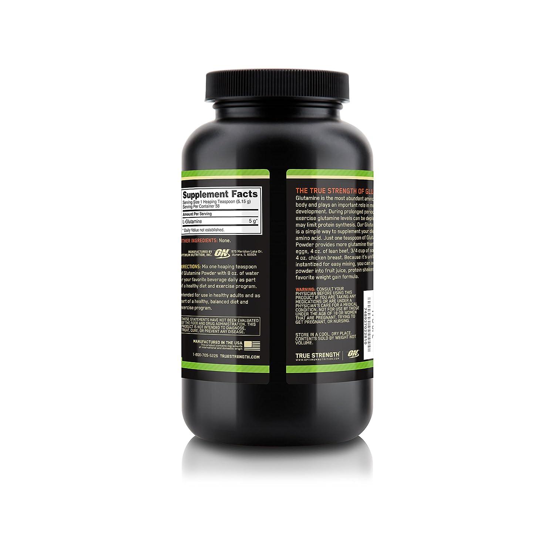 Optimum Nutrition (ON) Glutamine Powdered Supplement - 300 g (Unflavored)