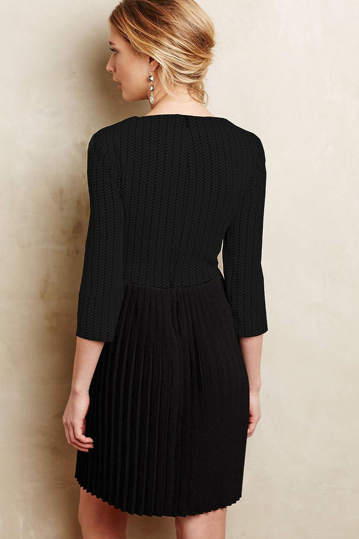 ea9cdce855cd Ganni Crossknit Dress, Black at Amazon Women's Clothing store: