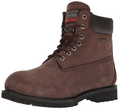 044341bbe379c Skechers Men's Duson - Steno Chocolate Boot 9 Men US: Amazon.co.uk ...