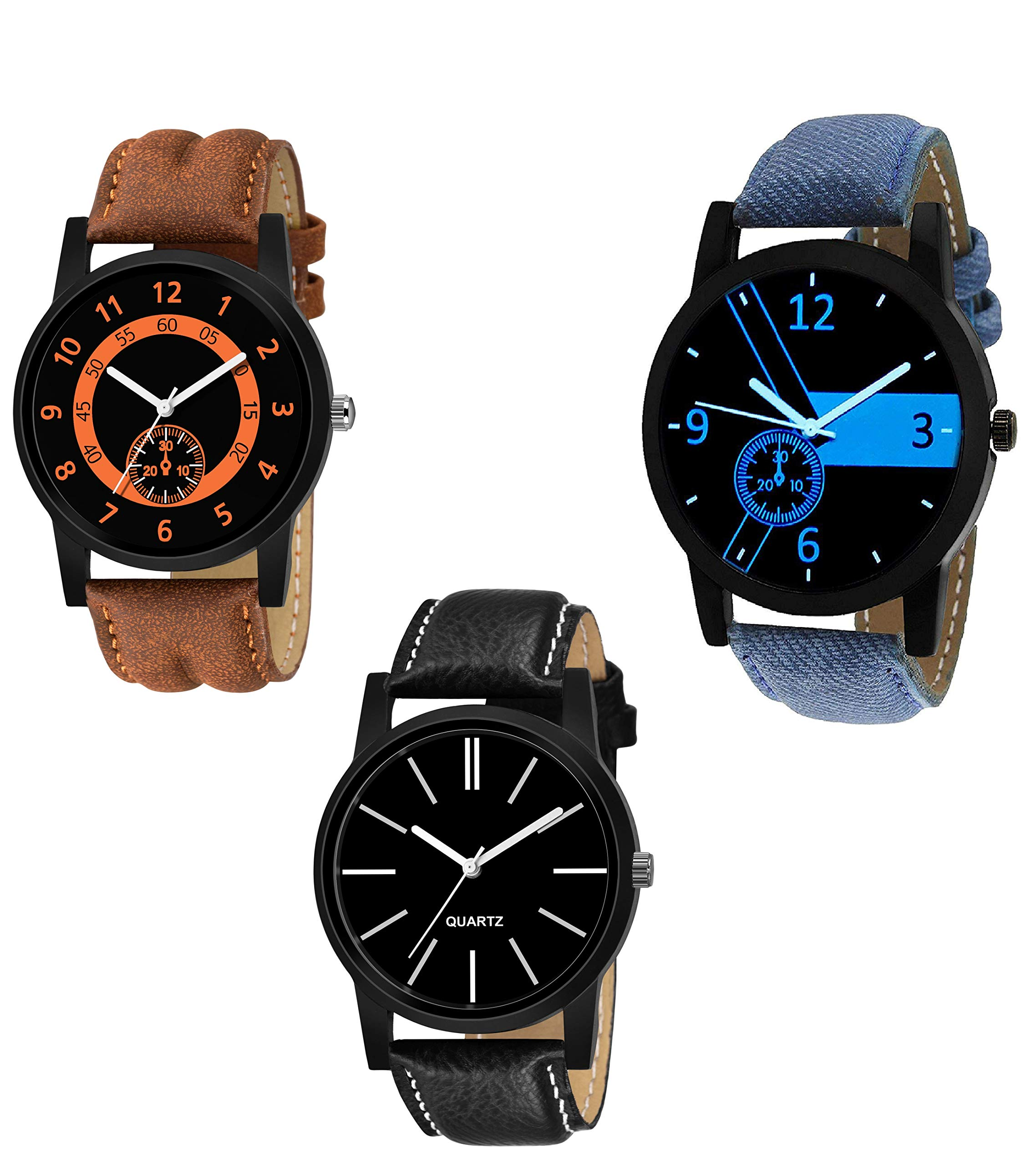 KDENTERPRISE Analog Men's Boy's Watches Pack of 3 product image