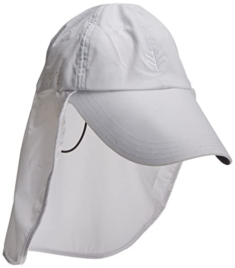 c0544075f Coolibar Men's UV Protective 50 Plus Stay Put Fishing Cap-White, One ...