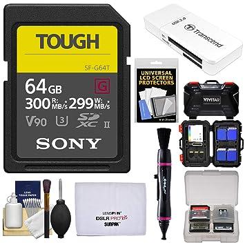 Amazon.com: Sony 64GB Tough SecureDigital UHS-II U3 V90 G ...