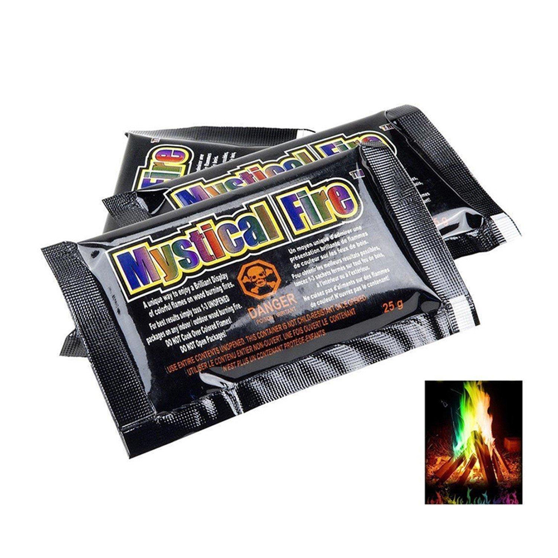 Mystical Fire Magic Tricks Coloured Flames Bonfire Sachets Fireplace Pit Patio T