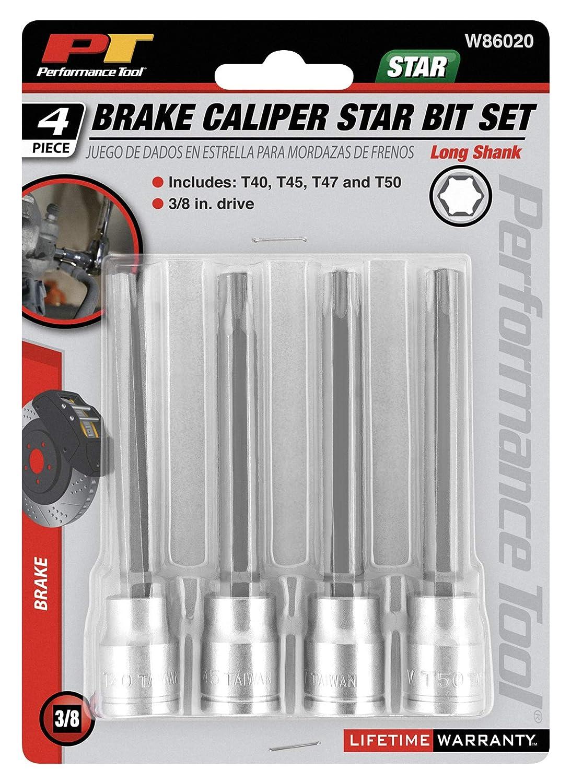 Wilmar Performance Tool W1339 Brake Caliper Hex Bit Set 4-Piece