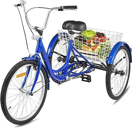 Happybuy - Bicicleta de tres ruedas para adultos con asiento ...