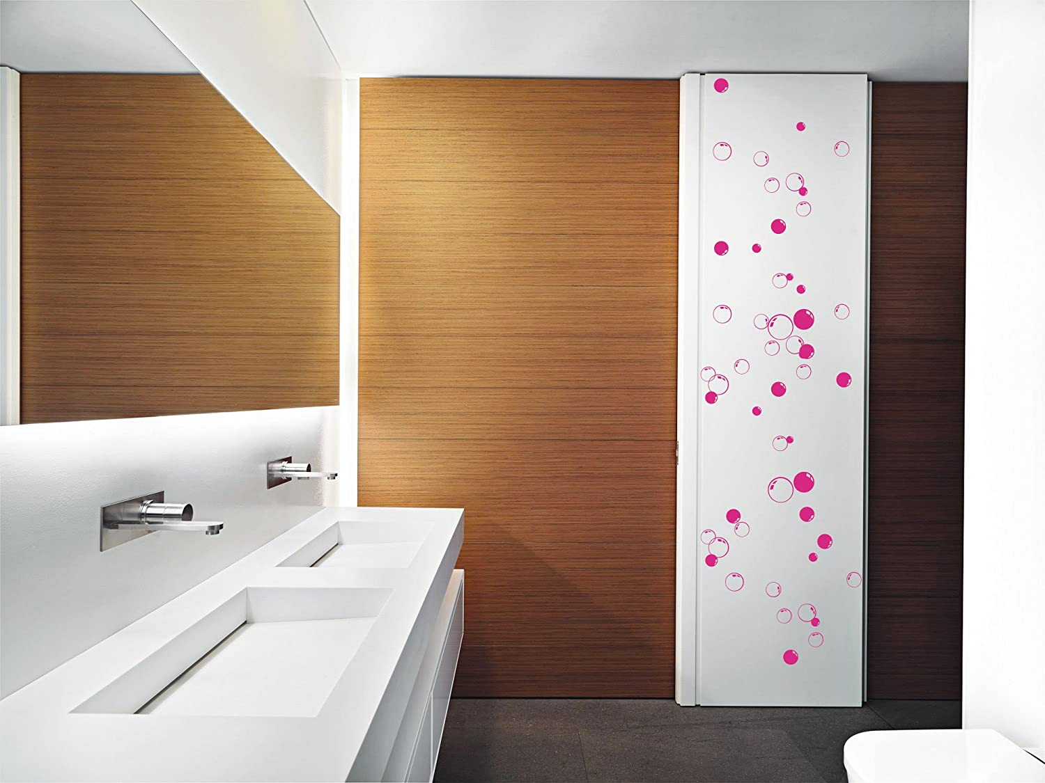 58 bubbles bathroom window shower tile wall stickers wall decals car decals amazoncouk kitchen u0026 home