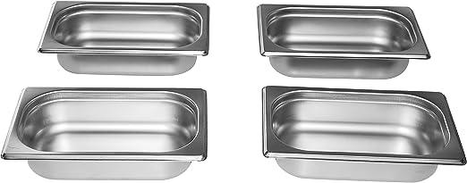 GN Bain Marie Behälter Gastronormbehälter 2//3 Edelstahl Behälter 55 mm NEU