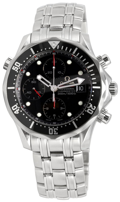 オメガメンズ213.30.42.40.01.001 Seamaster 300 Mクロノダイバーブラックダイヤル時計 B001LYA4NM