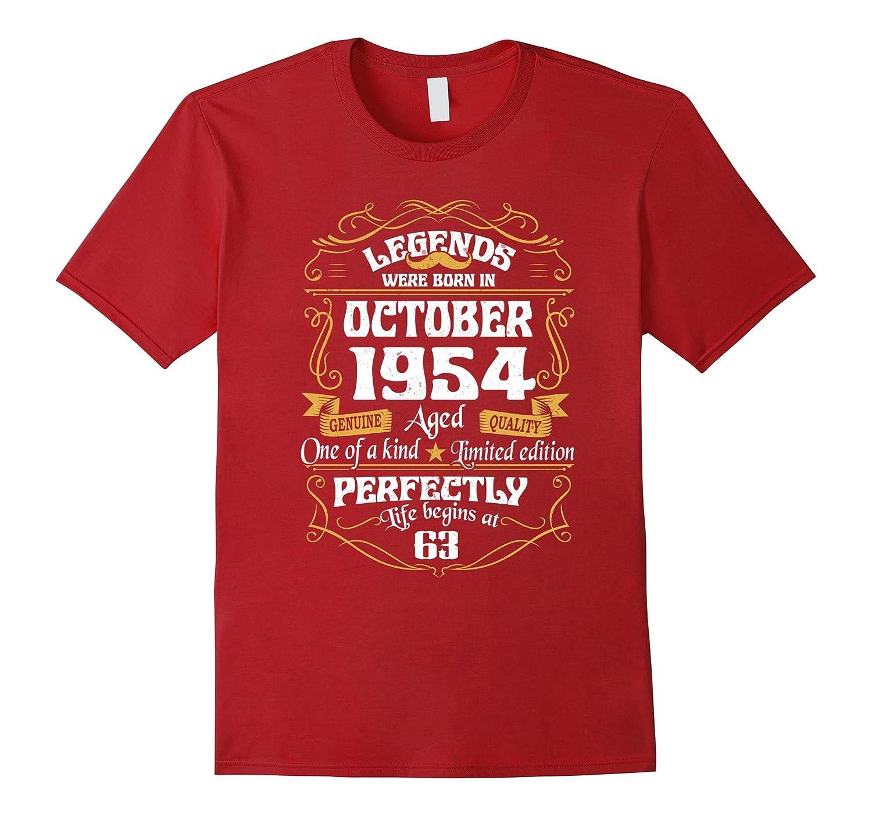 Legends Were Born In October 1954 tshirt 63th t-shirt-T-Shirt