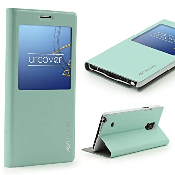 Urcover® Funda Galaxy Note 4 S-View, Carcasa Protectora ...