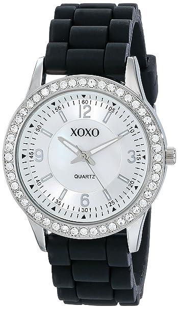 Negro De Reloj Xoxo Silicona Para RakAmazon Mujer Correa Xo8037 QxrsCtdh