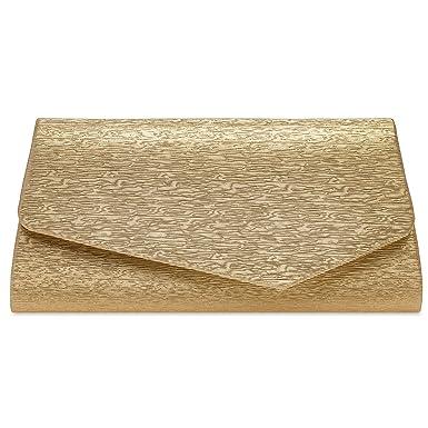 467c32f0b1fee Caspar TA527 Damen elegante Envelope Glanz Clutch Tasche Abendtasche ...
