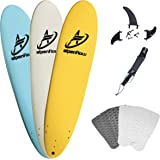 A ALPENFLOW 8 Foam Surfboards 8ft Soft Foamie Summer Surf Boards Surfing High Performance Funboard