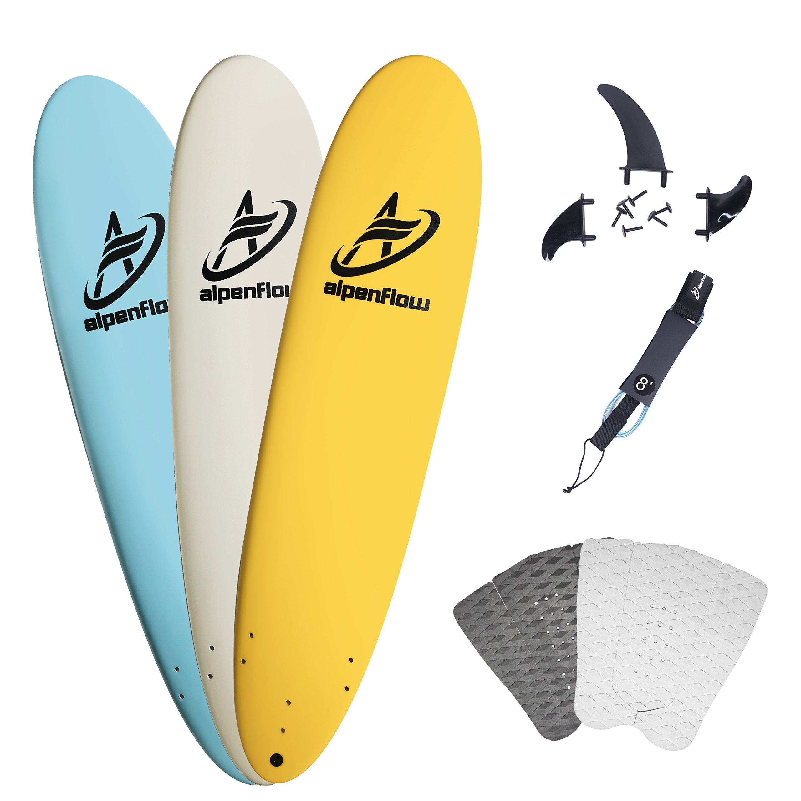 A ALPENFLOW 8' Foam Surfboards 8ft Soft Foamie