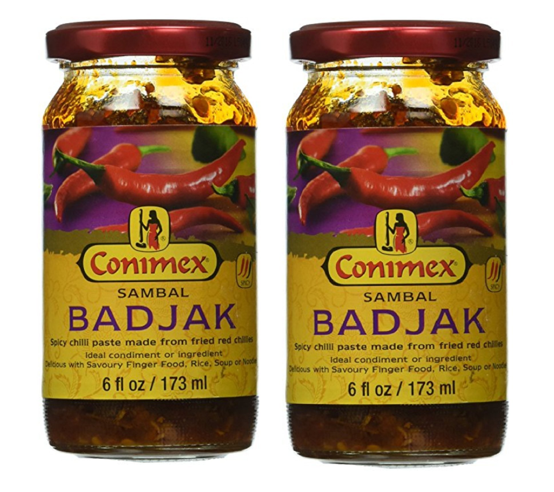 Conimex Sambal Badjak, 6 oz, 2 packs