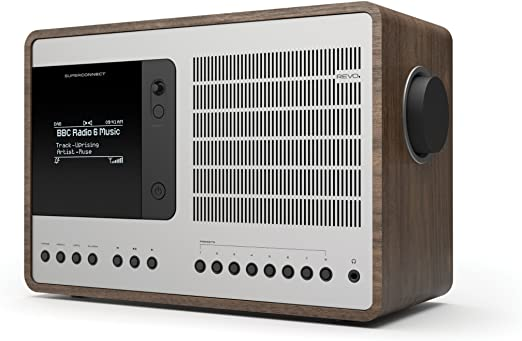 Revo Superconnect Internet Dab Radio Walnuß Silber Elektronik