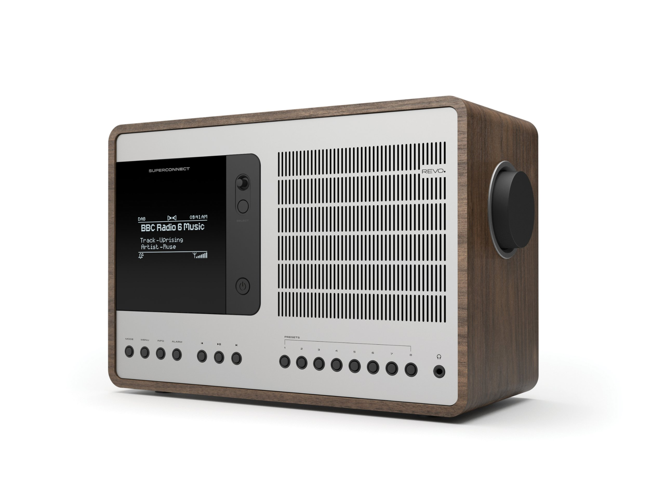 Revo SuperConnect Multi Format Deluxe Table Radio by REVO Technologies