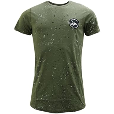 26fc1bde36fa HYPE Khaki All Over Splatter T-Shirt - Speckle Stamp XS: Amazon.co.uk:  Clothing