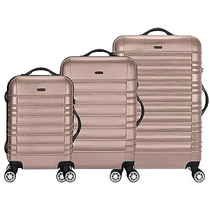 TRAVEL LORD Serie Eco Maletas De Viaje Set De 3 Piezas - candado de TSA 45/78/124 Capacidad De litros Equipaje De Mano con Ruedas 360⁰ De Rotación ...