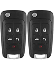 ECCPP Keyless Entry Remote Folding Key Fob Shell Case Replacement Compatible with GMC Terrain, Buick Allure Lacrosse Regal Verano Encore, Chevy Camaro Cruze Malibu Equinox Sonic Impala OHT01060512