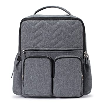 82912570b940 Amazon.com   Diaper Bag Backpack for Mom or Dad with Stroller Straps ...