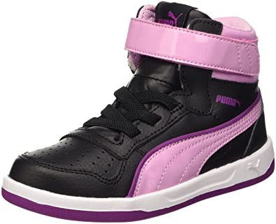 Puma Liza Mid Dazz V Ps, Sneaker Children and Teenagers (Gymnastics), Nero/Pastel Lavender, 11 EU