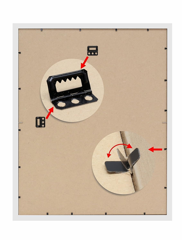 Deknudt Frames S41VF1-M-50.0X50.0 Magnettafel, Kunstharz, mit 10 10 10 Magneten, 54,6 x 54,6 x 1,6 cm, Weiß d1ac34
