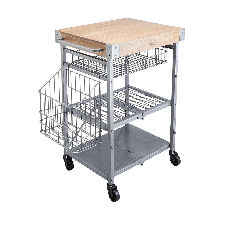 Kitchen Craft Industrial Kitchen Zusammenklappbarer Küchenwagen mit ...