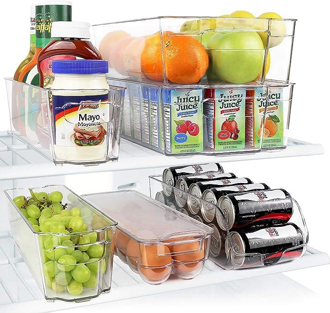 Useful Refrigerator Storage Box Kitchen Accessories saving Space Beverage C F5X3