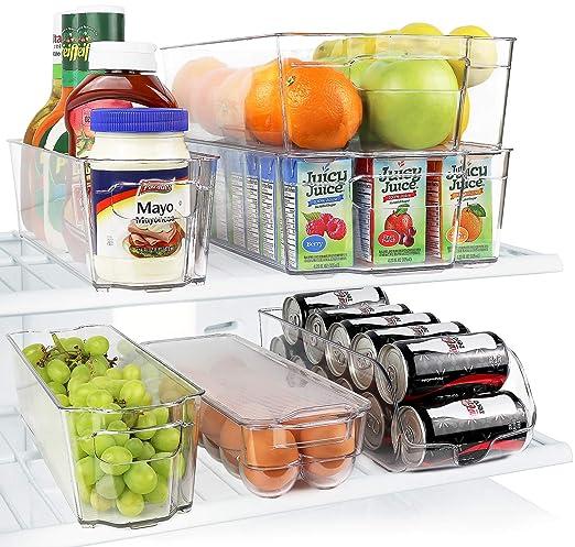Greenco 6 piezas Nevera y congelador apilable organizador de ...