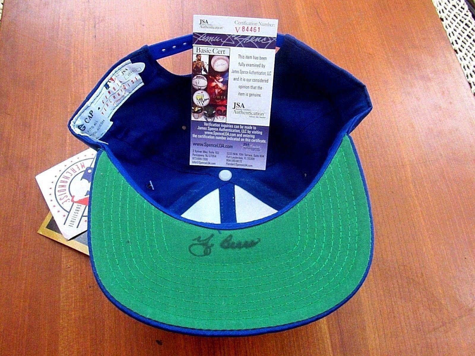 Yogi Berra 3x Al Mvp & 13x Wsc Mets Yankees Hof Catcher Signed Auto Cap JSA Certified Autographed Hats