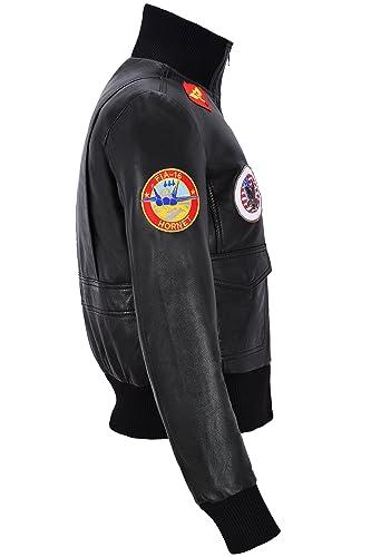 Amazon.com: parte superior Gun Negro Señoras Jet Fighter ...